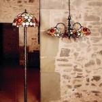 Lámparas de cristal Tiffany
