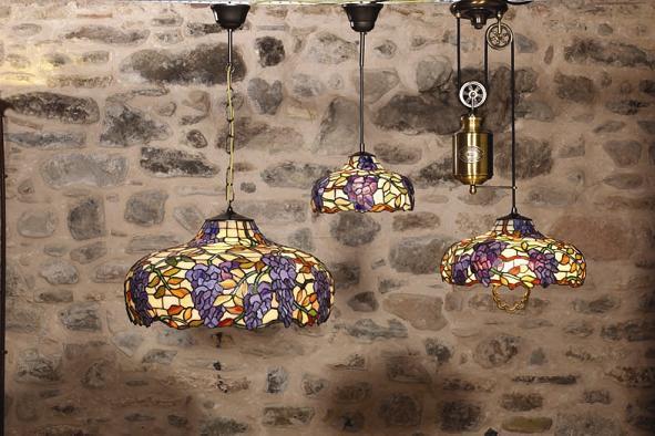 lamparas de techo tiffany Lmparas De Cristal Tiffany METAL Y LUZ SL
