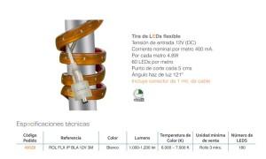 tira led flexible para exterior y ficha técnica