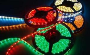 tiras led colores