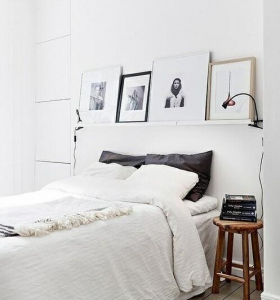 lampara pinza cabecero cama