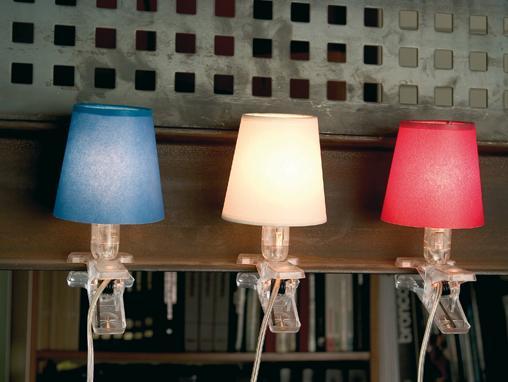 lamparas de clip o pinza con pantallas decorativas