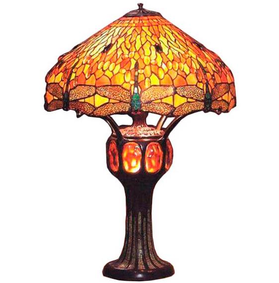 lampara tiffany sobremesa amber