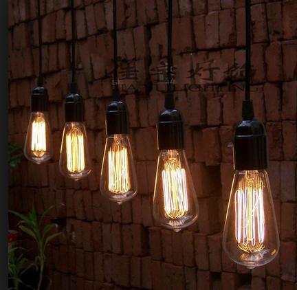 bombillas filamento carbono pebetero agrupadas