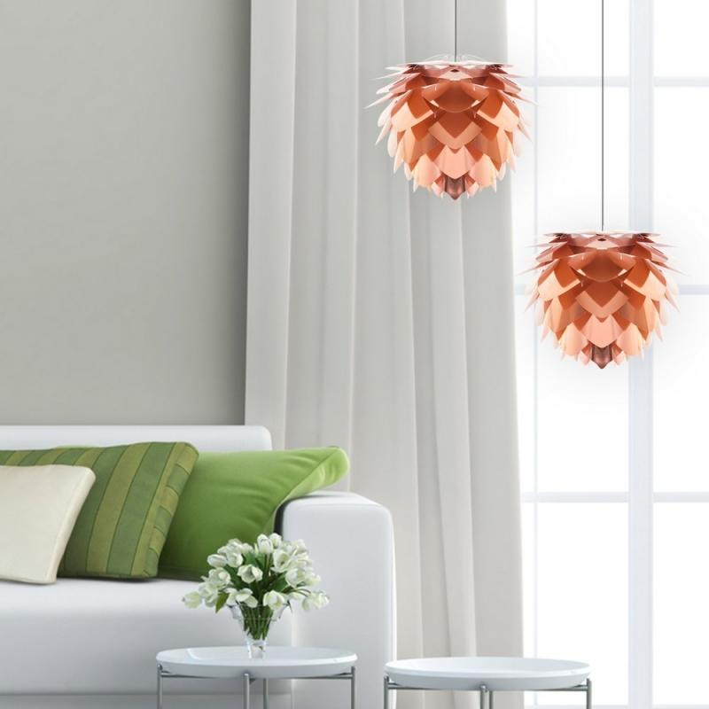 lamparas cobre salon silvia-de-vita