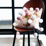 bolas algondon rosas silla