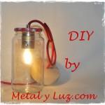 lámpara tarro cristal DIY