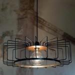 lámparas armazón metal o tipo jaula