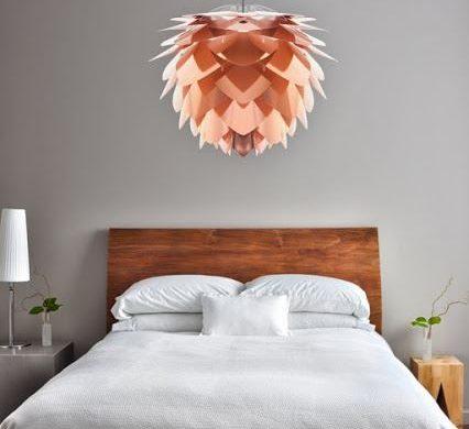 lampara cobre dormitorio